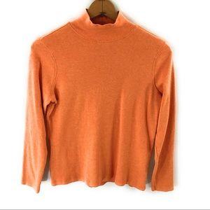 Pendleton Womens Orange Turtleneck Sweatshirt Med